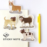 4Pcs/lot My Dear Home Pet Dog Memo Notepad Notebook Memo Pad Self-Adhesive Sticky Notes Bookmark Promotional Gift Stationery