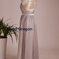 Angel Dragon Bridesmaid Chiffon Prom Dresses Long Evening Gowns
