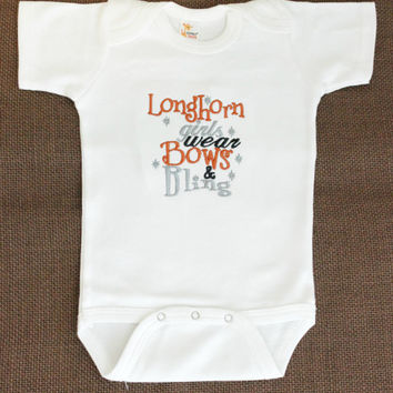 UT University of Texas Longhorns - Baby Girls - Bodysuit - Creeper - Girls T Shirt - Baby Shower Gift - Baby Girls Clothing - Infant Creeper