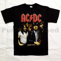 ACDC - Highway To Hell - mens black t-shirt
