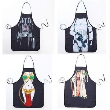 Star Wars Force Episode 1 2 3 4 5 Novelty Funny Apron  Soldier Kitchen Apron Dinner Party Cooking Apron Adult Baking Accessories  AT_72_6