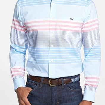 Men's Vineyard Vines 'Tucker - Oceaneer Stripe' Slim Fit Sport Shirt,