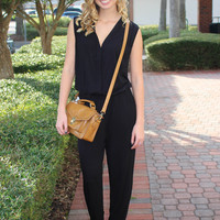 Falling Into You Jumpsuit - Black