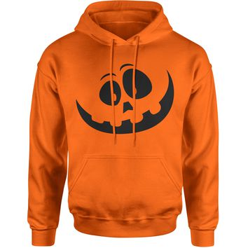 Silly Pumpkin Face (Black Print) Adult Hoodie Sweatshirt