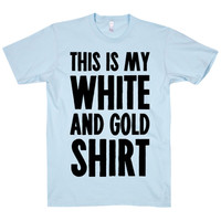 MY WHITE AND GOLD TEE - PREORDER