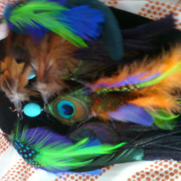 Peacock Feather Earrings Grab Bag
