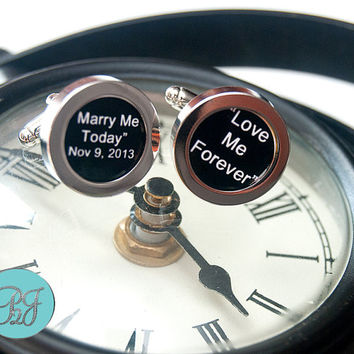 Personalized Cuff Links / Photo Cuff Links / Wedding Cuff Links / Father of the Bride / Unique Keepsake Gift / Grooms Gift / Gift