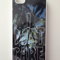 I Don't Care Palm Trees iPhone Case - iPhone