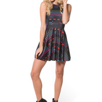 Space Invaders Reversible Skater Dress
