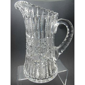 ABP cut glass Pitcher prism antique