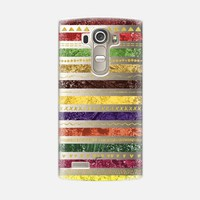 Autumn Stripes & Gold Tribal (LG) LG G4 case by Noonday Design | Casetify