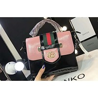 GUCCI 2018 spring and summer women's fashion trend shoulder bag F-AGG-CZDL Pink