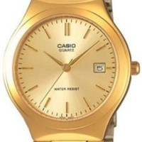 Casio Men's MTP1170N-9A Gold Stainless-Steel Quartz Watch with Gold Dial