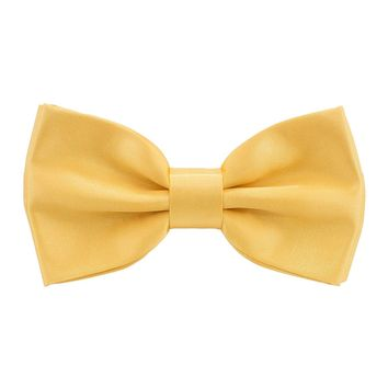 Satin Gold Bow Tie