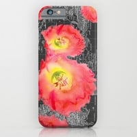 Dark Floral World iPhone & iPod Case by Catherine Holcombe