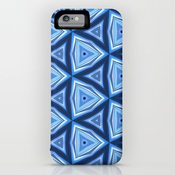 Abstract Triangle Blue Pattern iPhone & iPod Case by Cinema4design