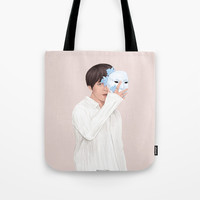 BTS Taehyung | Singularity Tote Bag by marylobs