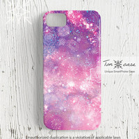 Galaxy iPhone 5 case, Galaxy iPhone 4 case, iPhone 4s case, Handmade Etsy iPhone case, universe, space, Fantasy galaxy flower pattern (c68)