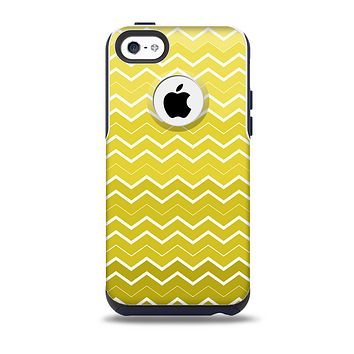 The  Yellow Gradient Layered Chevron Skin for the iPhone 5c OtterBox Commuter Case