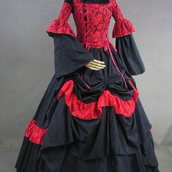 Ladies Victorian Dickens Nancy Costume Gothic Dress Up Game Alternative Measures - Brides & Bridesmaids - Wedding, Bridal, Prom, Formal Gown