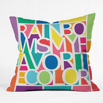 Jacqueline Maldonado My Favorite Color Throw Pillow