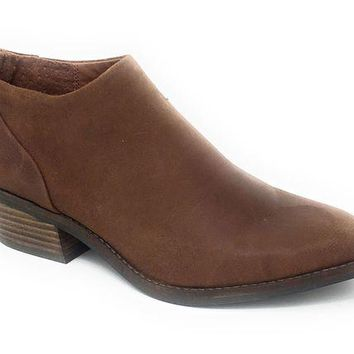 DCCKAB3 Lucky Brand Fai Toffee Antik Grease Leather Booties