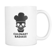 Chef cups chef mugs Culinary Badass mug - chef gifts chef gifts for men chef funny (11oz)