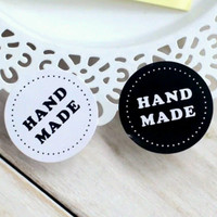40 Hand Made Black and White Stickers