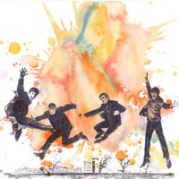 The Beatles Watercolor Painting Print - Fine Art print 8 X 10 in. Beatles Art From Original Watercolor Painting