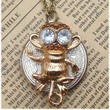 Steampunk Monkey Locket Necklace Vintage Style by sallydesign