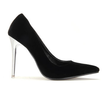 Black Pointed High Heels