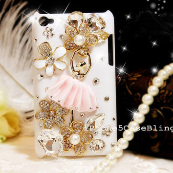 ipod touch 4 case, ipod touch 5 case, ipod touch 4 cover, ipod touch 4 case bling, bling ipod touch 5 case, ipod touch 4 case ballet girl