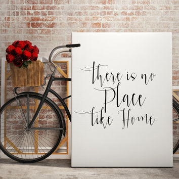 "Home decor Family poster ""There is no place like home"" Family quote Instant download Inspirational poster Motivational quote Printable quote"