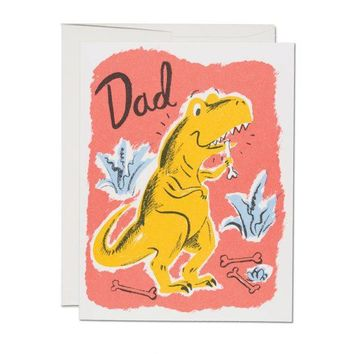 RED CAP CARDS DINOSAUR DAD CARD
