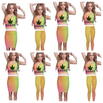 WEED QUEEN crop top outfit