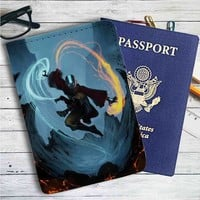 Avatar The Last Airbender Leather Passport Wallet Case Cover