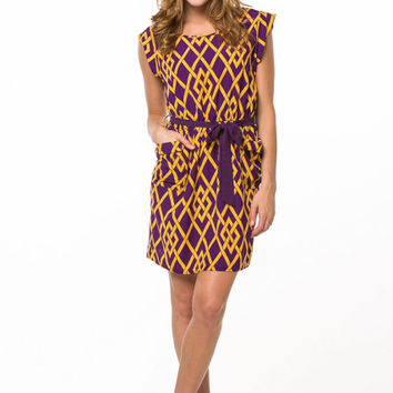 LSU Classy Gameday Dress -Purple/Gold