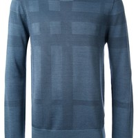 Burberry London jacquard check sweater