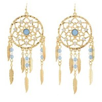 Dangling Dreamcatcher Earrings by Charlotte Russe - Gold