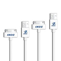 iXCC 2pc 10ft EXTRA LONG 30 Pin to USB SYNC and Charge Cable Cord for Apple iPhone 4/4s, iPod 1-6 Gen, iPod 1-4 Gen, iPad 1-3 Gen