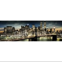 New York Manhattan Night Moon Poster Print (62 X 21) - Walmart.com