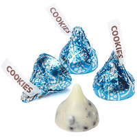 Hershey's Kisses Blue Foiled Cookies n Creme Candy: 60-Piece Bag