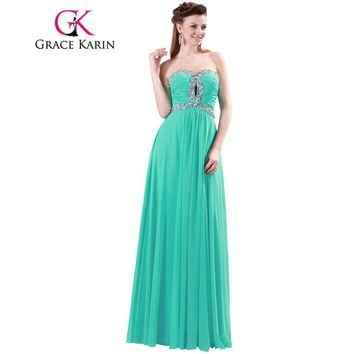 Real Picture Mint Green Bridesmaid Dresses Sweetheart Beading Sequin Elegant Long Bridesmaid Dress Party Dance Gown 4413
