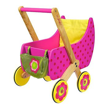 Dushi Wooden Push 'n Play Doll Carrier