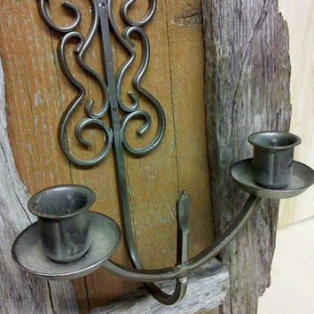 Rustic Wall Hanging Candle Holder made with Reclaimed Barn Wood