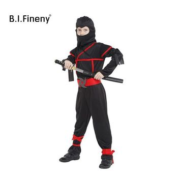 Cool Warrior Ninja costumes Children's Day Cosplay Clothing kids performance Costume Halloween Party Boy Girl game giftAT_93_12