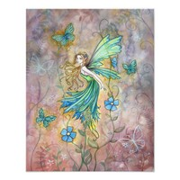 Enchanted Garden Fairy Art Poster Print from Zazzle.com