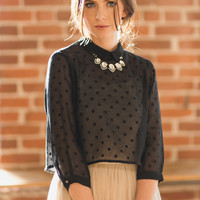 Piper Sheer Polka Dot Blouse