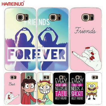 HAMEINUO best friend forever lovers couple cell phone case cover for Samsung Galaxy A3 A310 A5 A510 A7 A8 A9 2016 2017 2018