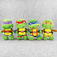 4pcs/lot Super Hero Teenage Mutant Ninja Turtles Plush Toys Kids Birthday Gifts Soft Stuffed Pendant Accessories Doll 20cm